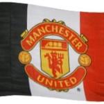 Vlajka Manchester United FC (pruhovaná)