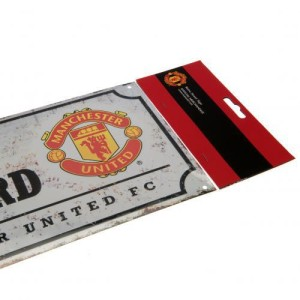 Plechová cedulka Manchester United FC ulice retro